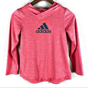 ☕️5/$25 Adidas Hooded Pink Athletic Top Girls Med